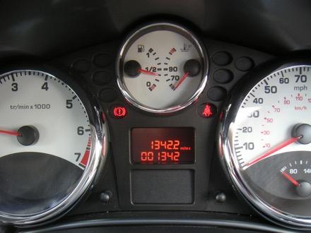 Digital and analogye car dashboard
